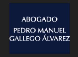 Abogado Pedro Manuel Gallego Alvaréz