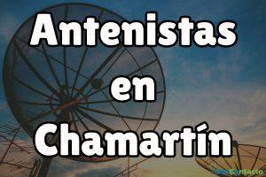 Antenistas en Chamartín.