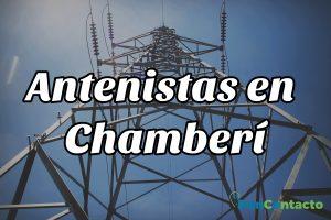 Antenistas en Chamberí.