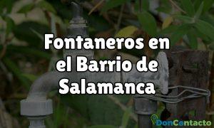Fontaneros en el Barrio de Salamanca