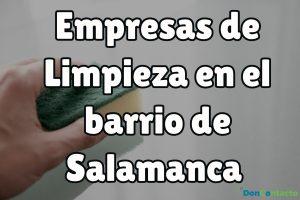 Empresas de limpieza en el barrio de Salamanca