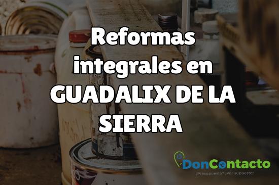 Reformas integrales en Guadalix de la Sierra