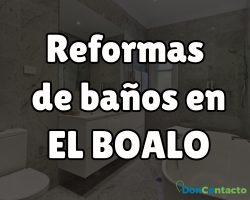 Reformas de baños en EL BOALO