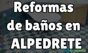 Reformas de baños en Alpedrete