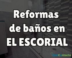 Reformas de baños en El Escorial