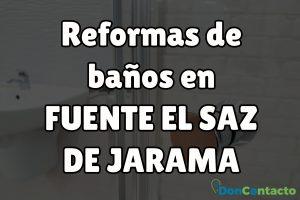 Reformas de baños en Fuente el Saz de Jarama