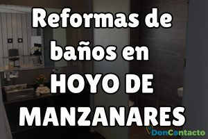 Reformas de baños en Hoyo de Manzanares