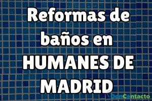 Reformas de baños en Humanes de Madrid