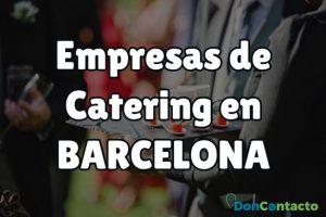 Empresas de catering en Barcelona