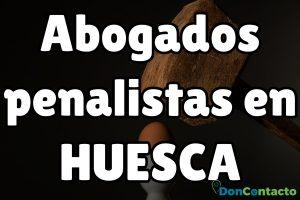 Abogados penalistas en Huesca