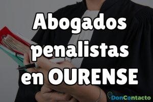 Abogados penalistas en Ourense