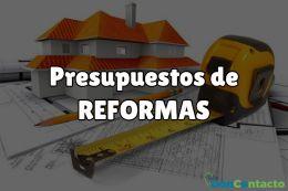 presupuestos para reformas