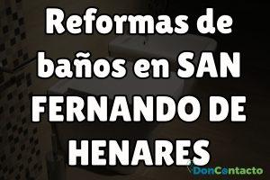 Reformas de baños en San Fernando de Henares