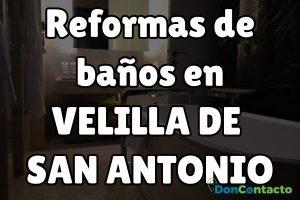 Reformas de baños en Velilla de San Antonio