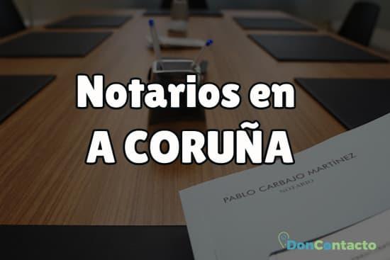 Notarios en A Coruña