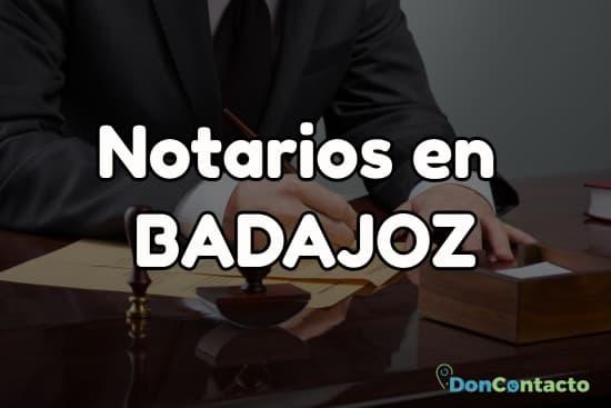 Notarios en Badajoz