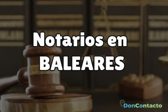 Notarios en Baleares