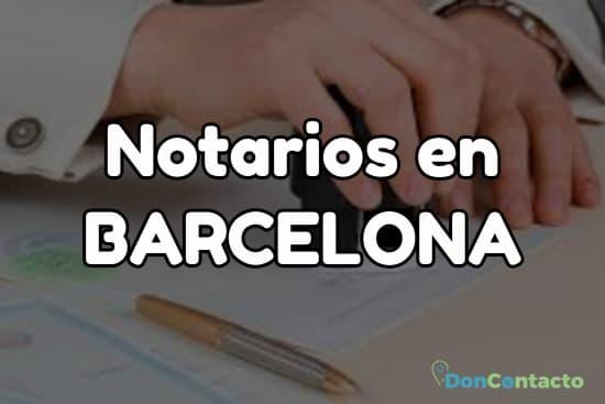 Notarios en Barcelona