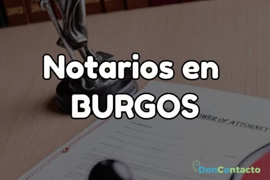 Notarios en Burgos