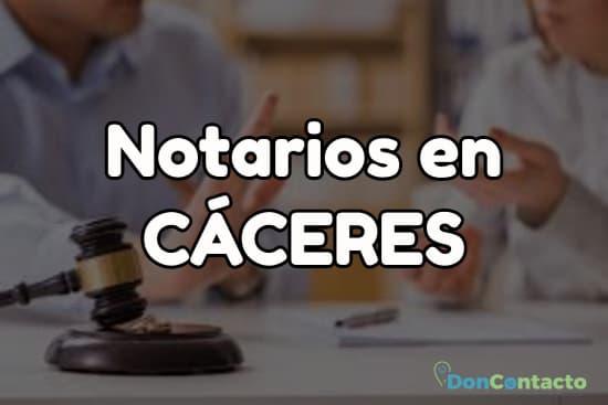 Notarios en Cáceres