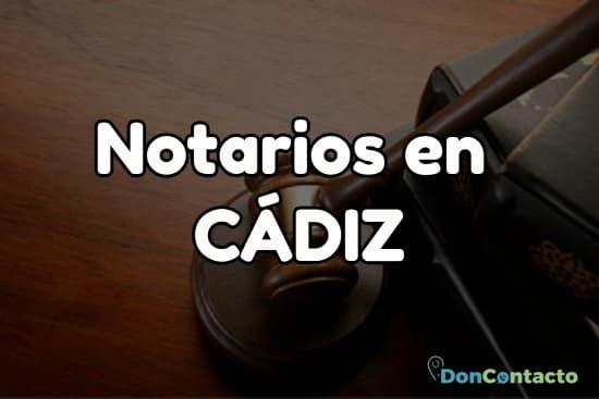 Notarios en Cádiz