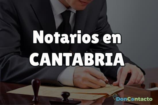 Notarios en Cantabria