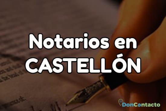 Notarios en Castellón