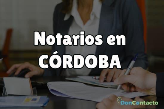 Notarios en Córdoba