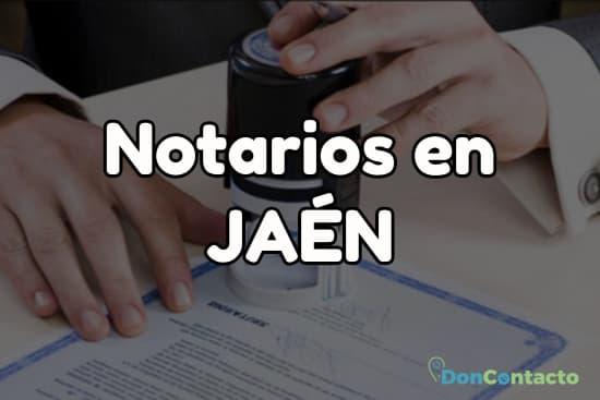 Notarios en Jaén