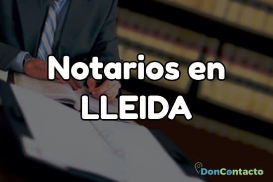 Notarios en Lleida