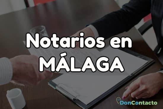 Notarios en Málaga