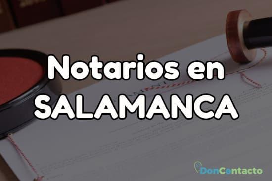 Notarios en Salamanca