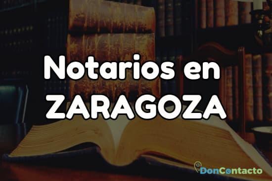Notarios en Zaragoza