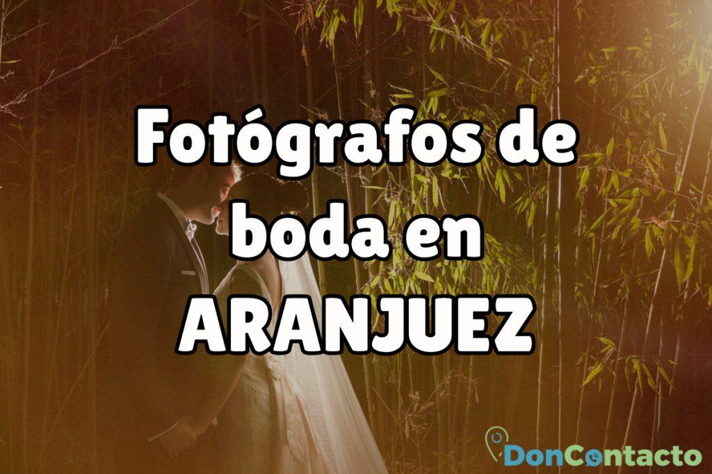 Fotógrafos de boda en Aranjuez