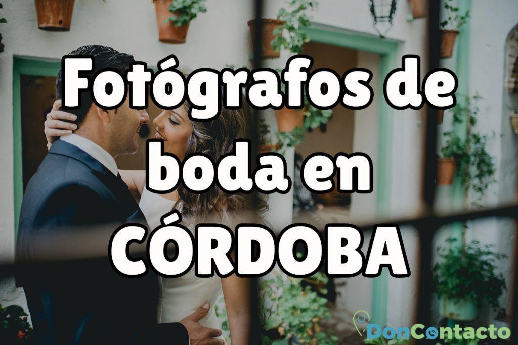 Fotógrafos de boda en Córdoba