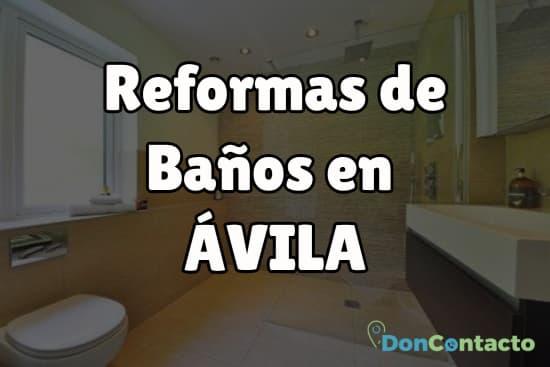 Reformas de baños en Ávila