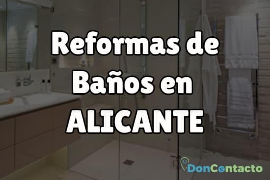 Reformas de baños en Alicante