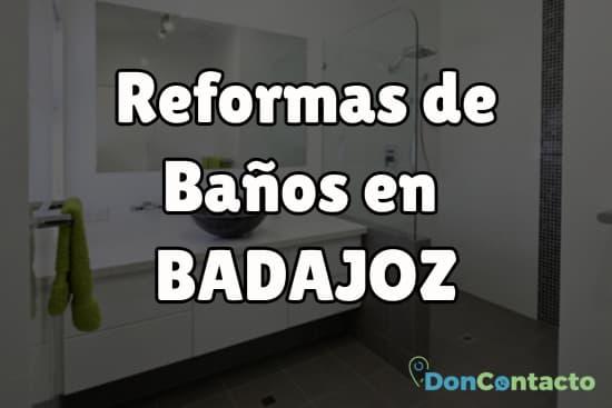 Reformas de baños en Badajoz