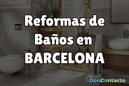 Reformas de baños en Barcelona