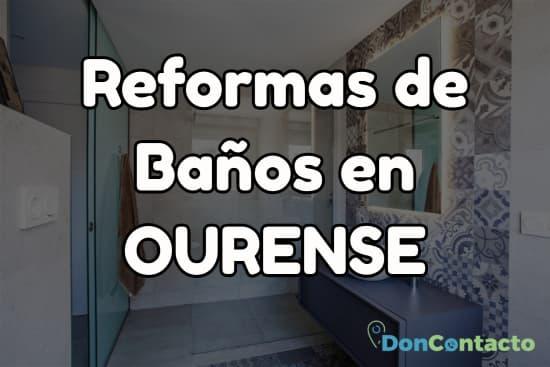 Reformas de baños en Ourense