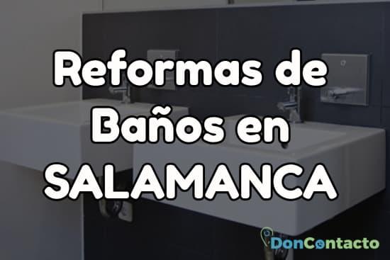 Reformas de baños en Salamanca