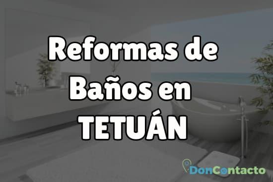 Reformas de baños en Tetuán