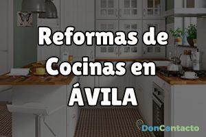Reformas de cocinas en Ávila