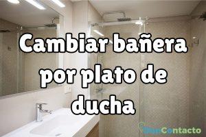 ¿Cómo cambiar la bañera por un plato de ducha?