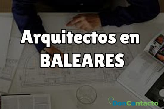 Arquitectos en Baleares