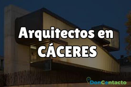 Arquitectos en Cáceres