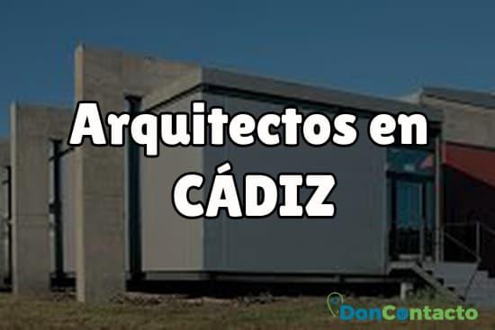 Arquitectos en Cádiz