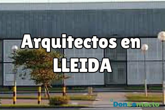 Arquitectos en Lleida