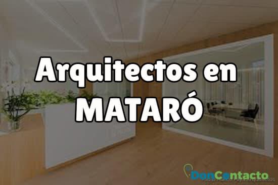 Arquitectos en Mataró