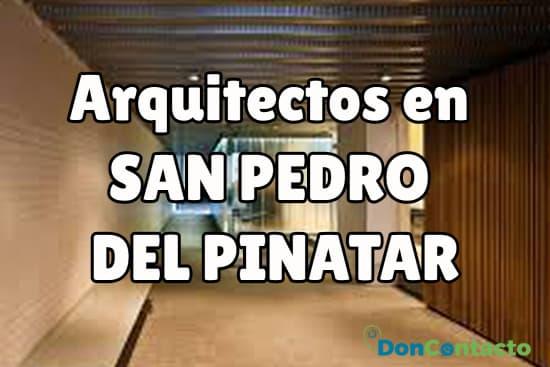 Arquitectos en San Pedro del Pinatar